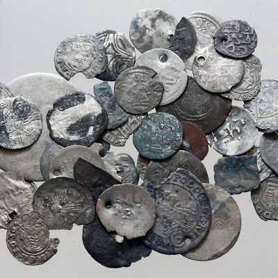 Lot Of 42 Uncertain European Medieval Coins , 27.09 Grams