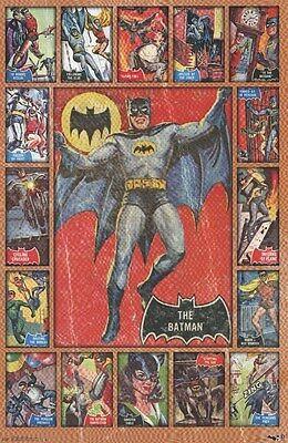BATMAN ~ VINTAGE TRADING CARD COLLAGE ~ 22x34 COMIC POSTER ~ NEW/ROLLED!