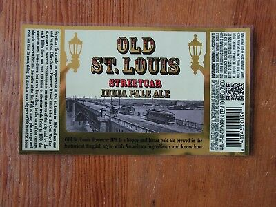 Old St. Louis IPA Bottle Label Sticker ~NEW Craft Beer Brewing Co Brewery Decal~