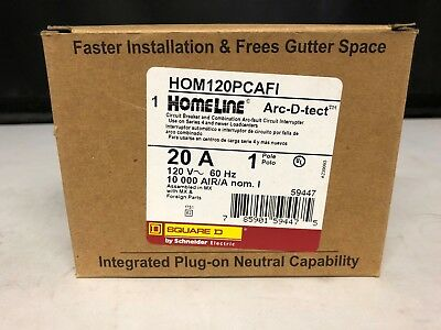 *NEW* Square D Homeline 20 Amp Arc-fault Breakers Lot Of 3 HOM120PCAFI