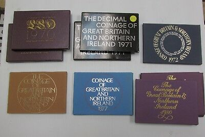 Lot of Coinage of 9 x Great Britain and Northern Ireland Date Sets Mixed Years
