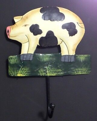 Hand Painted Pig Wall Hook
