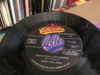 Jerry Lee Lewis Great Balls Of Fire ~ High School Confidential  45 7  #