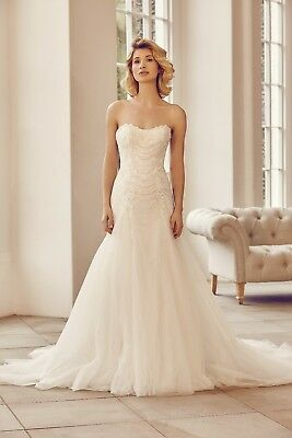 Benjamin Roberts strapless fit & Flare wedding Dress Size 18 Bnwt Lace up back