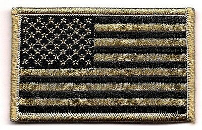 Coyote Black Tan United States US Flag Patch VELCRO® BRAND Hook Side Only