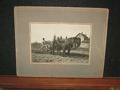 Antique 1923 Uncle Sam Plowing Contest Real Photo Photograph Greenwood WS