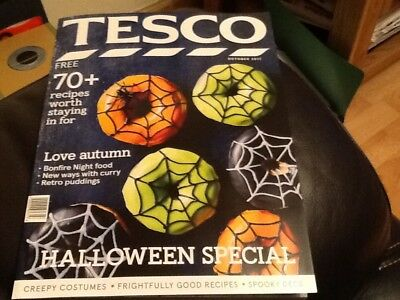 Tesco Shops  Magazine October 2017 * Great Halloween Ideas,  Bonfire Night Food