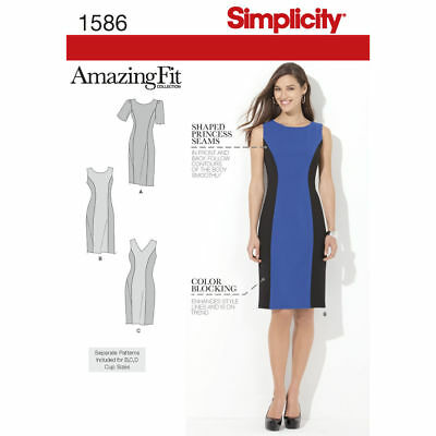 SIMPLICITY AMAZING FIT SEWING PATTERN 2247 Misses/Womens Dress 10-18 ...
