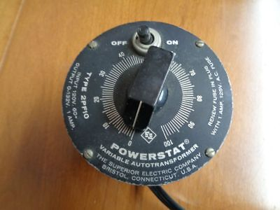 Vintage POWERSTAT Variable Autotransformer 2PF10-EX! NR!
