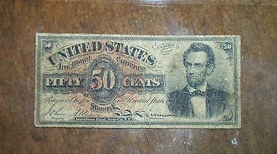 1863 50 Cent Lincoln US Fractional Note 4th Issue Allison/Spinner