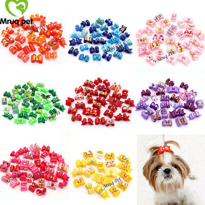 10X Choose Colors Pet Dog Cat Hair Bows Dog Hair Accessory Dog Grooming Bows