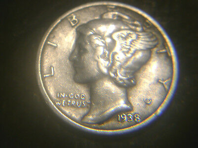 1938-S Mercury Dime In Very/nice Condition.rare.add To Set Or Collection.