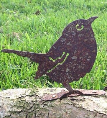 Rusty Metal Sparrow Fence Post Topper / Silhouette/ Garden Ornament