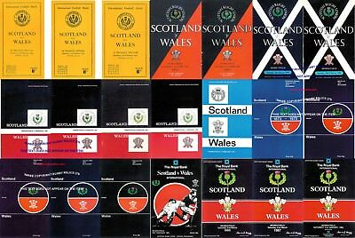 SCOTLAND v WALES RUGBY PROGRAMMES 1949 - 1989  GOOD + CONDITION - FIVE NATIONS
