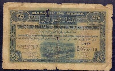 25 Piastres From Syria 1919 B3