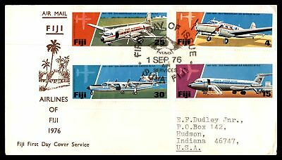 Fiji 1976 Airlines Air Service 25Th Anniversary Sep 1 1976 Addressed Fdc With In