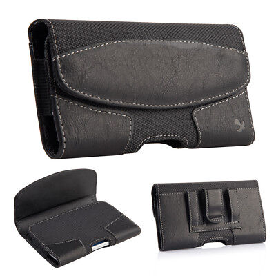 Horizontal Leather Pouch Case Cover Belt Clip Holster For Samsung Galaxy S9 Plus