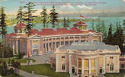 Alaska-Yukon-Pacific Exposition Seattle Washington 1909 Postcard Forestry
