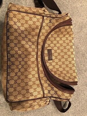 Authentic Gucci Monogram Large diaper Bag