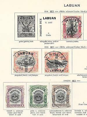 Labuan stamps 1901 Collection of 6 CLASSIC stamps HIGH VALUE!
