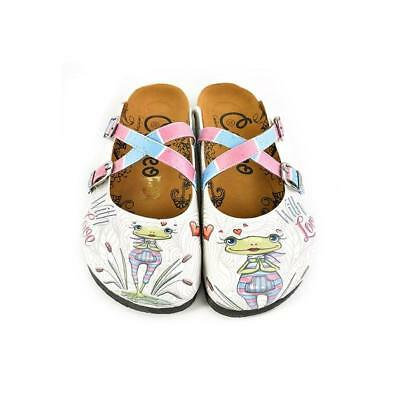 Women's New Calceo White 'with Love' Crisscross Clogs Slippers Shoes