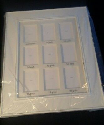 """NEW Pottery Barn Kids White School Years GALLERY FRAME 16.5 x 13.5"""" MSRP $29"""