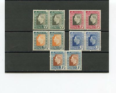 South Africa 1937 Coronation Pair, Mnh...fine Very Fine Stamps