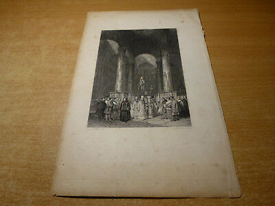 c1840 RUSSIAN IMPERIAL GRAVURE ENGRAVING ASSUMPTION CATHEDRAL MOSCOW A. VICKERS