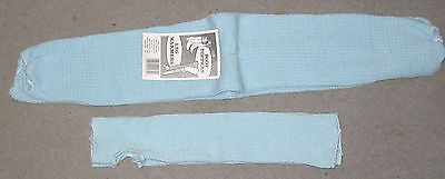 2 pair of light blue leg warmers, Made in USA warm, New NWT  Bulky knit Free S/H