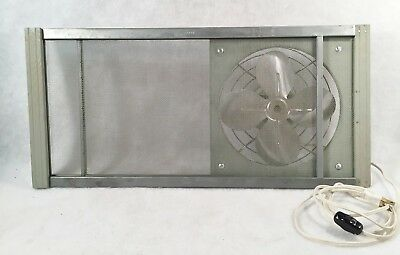 Vintage W.B. Marvin Mfg. Co. Premier Expandable Screen Window Fan Mod. # 239 W