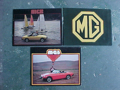 Lot Of 3 Vintage 1978 1979 British Mg Mgb Brochures Nice Condition