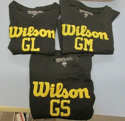 Wilson Sports Athletic Jersey Girls Black Yellow S/m/l Lot Of 3