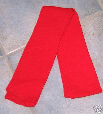 Red Leg and Arm Warmers Fine Gauge Made in the USA  FREE S/H