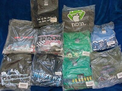 Lot THINK GEEK Assorted Tee Shirt's  Brand New in Packaging NOM FREEZE VOLTAGE