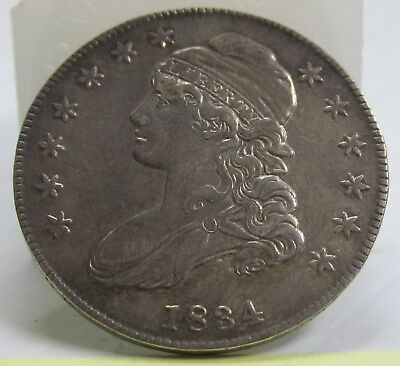 1834 Capped Bust Half Dollar Small Date Small Letters O-111 R1 AU  #