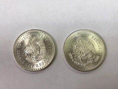 B.U 1948 Cinco Peso 90% Silver Chief *Q1