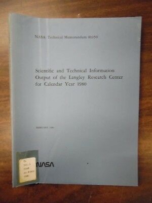 Scientific Tech Information Langley RC 1980 ExFAA Library 030918DBE3