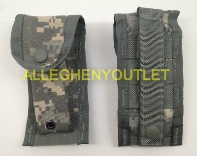 New Lot of 2 TWO Military 9mm Single Mag Pouch ACU Digital US Army MOLLE - USGI
