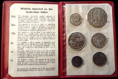 1972 Australia 6 Coin Mint Set - KM# MS5 - Red Wallet