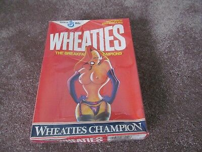 Vintage General Mills Wheaties Box With Naked Girl On It