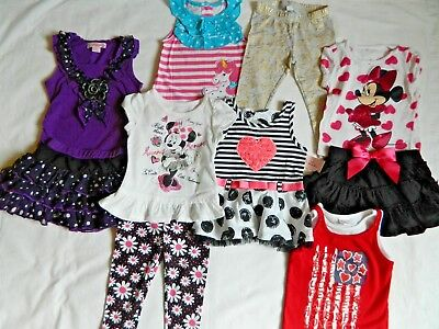 Lot of Girls size 2T Summer Clothes Tops Shirts Pants Skirts