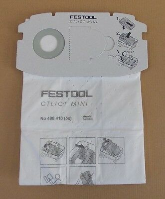 Festool 5x SELFCLEAN Filtersack SC FIS-CT MINI Vlies