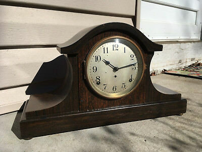 Antique Seth Thomas Adamantine Mantle Clock 89 Strike Movement in working cond