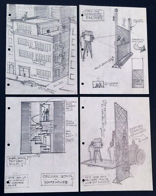 """60+ Concept Set Designs + Script 1982 Movie """"Six Weeks"""" Dudley Mary Tyler Moore"""