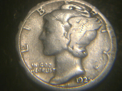 1925-S Mercury Dime In Very/good Condition.rare.add To Set Or Collection.