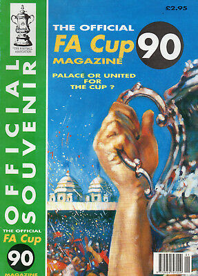 1990 FA Cup Final Manchester United v Crystal P Official FA Football Programme