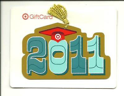 Target 2011 Graduation Gift Card No $ Value Collectible with Tassle, Backer Card
