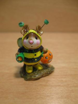 "Wee Forest Folk #M-252 ""BEE-DAZZLED"" Mouse in Bumble Bee Halloween Costume"