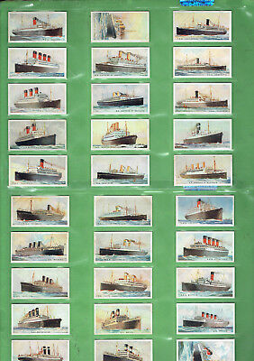 #gg.  1924 Cigarette Cards - Merchant Ships Of The World