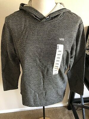 Vans Boys Textured Pull Over Hoodie SizeLarge 14-16 NWTS $40 HTF Rare